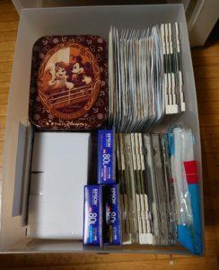 音楽CDを不織布ケースに入れて整理