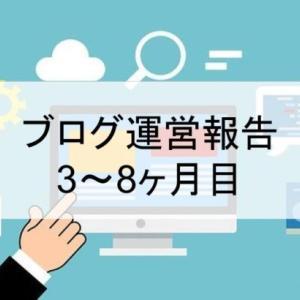 【運営報告】ブログ3~8ヶ月目 PV数、収益、目標など
