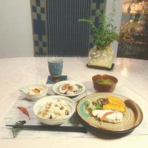 秋ご飯 と 着物の整理