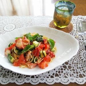 冷製パスタランチ & 和食の夕ご飯