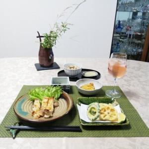 舞茸ご飯・鶏の塩麹グリル焼き