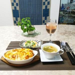 海老ドリア・ネバトロ素麺