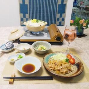 タモリ式豚の生姜焼き・湯豆腐