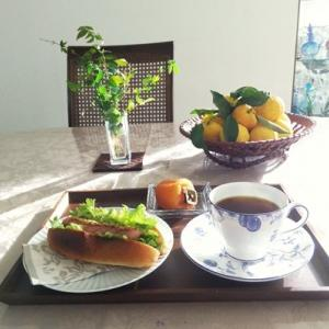 ブランチ・柚子ティー・夕ご飯