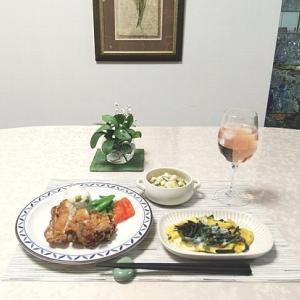 ZOOM勉強会・味噌ラーメン・山賊焼・ポテサラ