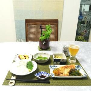 ざる蕎麦・和食の夕ご飯