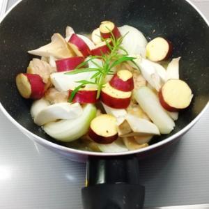 鶏肉とさつま芋のプレゼ
