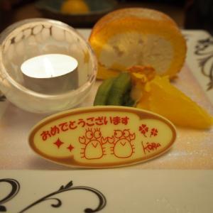『甲羅』 de アラカンのお誕生日ディナー(3) & ケーキ