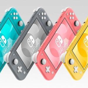 Amazonで大量復活中!Nintendo Switch Lite コーラル / ターコイズ / イエロー / グレー
