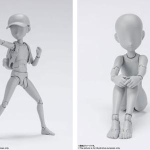 あみあみ20%オフで予約可能!S.H.Figuarts ボディちゃん・ボディくん-杉森建- Edition DX SET (Gray Color Ver.) 2種セット[BANDAI SPIRITS]