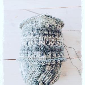 編物三昧…レッグウォーマーを編み始めました❣️