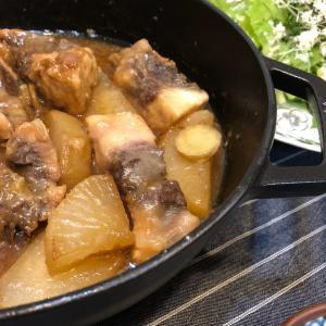 ブレイザーでカジキマグロの煮物の晩ごはん
