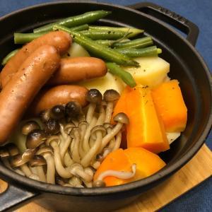 ストウブで温野菜と銀のさら