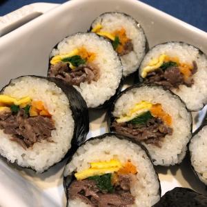 ストウブでキムパと卵入り麻婆豆腐
