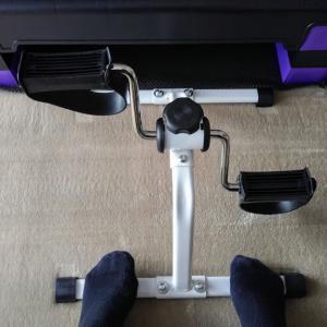 【リハビリ・運動】自宅で手軽に自転車こぎ運動!ペダル2000円以下で購入しました!