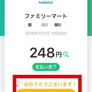 7月ワクワクPayPay 初日1発目全額還元GET!