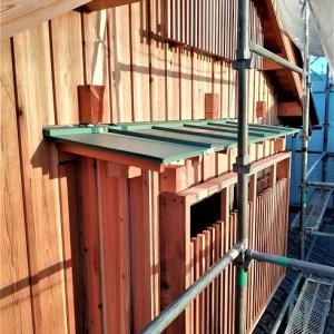 杉無垢板を外壁に縦張りする ~ 羽目板・あいじゃくり・目板押さえ