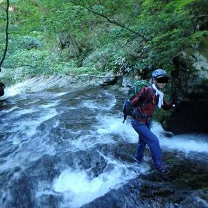 梅雨の晴れ間に SCルートから石筵川を登り安達太良山・船明神山周回 その1