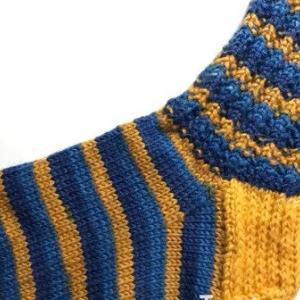 【棒針編み】靴下32号~ゴム編みもどきを使って~