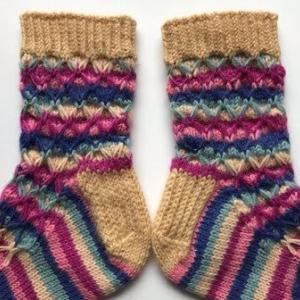 【棒針編み】靴下36号 ~ネットソックス~