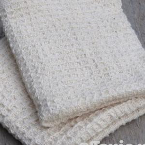 2種類のワッフル織りハンドタオル