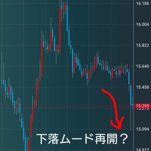 円高によるトルコリラ円下落に注視