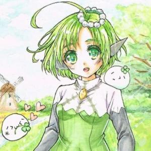 【緑髪かわいい女の子イラスト】第5回 : 梨莎軍団のオリキャラ!その2『ユヴァリィ』