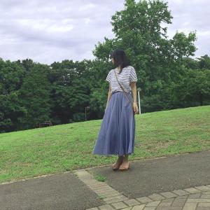 楽天で買ったロングスカートがお気に入り!