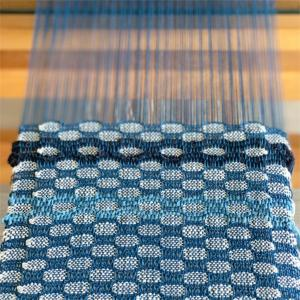 新作❤︎藍染め糸の裂き織りバッグ❤︎