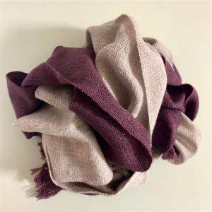 完成❤︎紫の十字架ストール❤︎