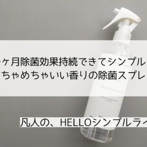 【モニター】心も洗われる♡シンプルおしゃれな除菌スプレー
