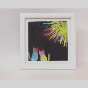 セブンーイレブンのネットプリントが便利!パステルアートを暑中見舞いのハガキに利用してみた!/ 2つのアプリの違い