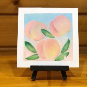 女性の味方 「桃」 パステルアートで描いてみた!/ 動画あり・あんこパステル 金沢