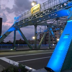 【医療従事者への感謝】【商店街の応援】金沢市の犀川大橋 ブルーのライトアップも綺麗
