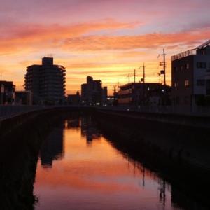 橋からの夕景