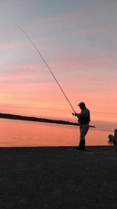 8月9日(日) 太平洋側の漁港でチカ釣り