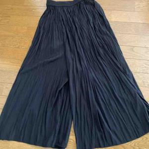 ユニクロのワッシャーサテンスカートパンツが素敵でした