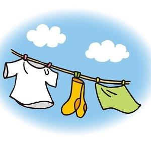 さわやかな秋晴れ 洗濯物が生き生きする