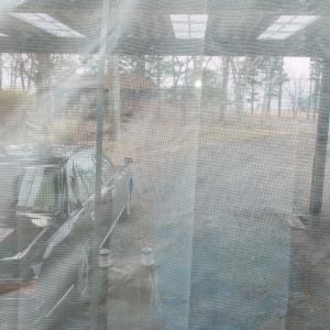 カーポートと雨