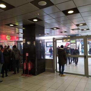 ナポリ中央駅に有人改札ができました