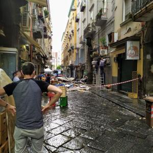 竜巻被害・・・悪天候なナポリ
