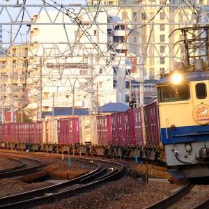 20年4月4日撮影 (74レ 松山貨物駅開業記念HM、メトロ13000系甲種)