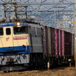 20年9月10日撮影 (5087レ EF65PF国鉄色、配6550レ 青ゴトー₊ムドDD200)