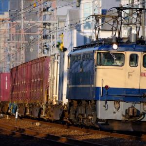 20年9月22日撮影 (朝練:74レ EF65PF国鉄色、夕練:奈良線 103系)