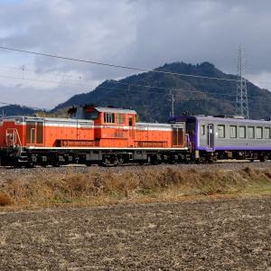 21年1月17日撮影 (二日連続の亀山配給 DD51+キハ120、PF国鉄色を2列車)