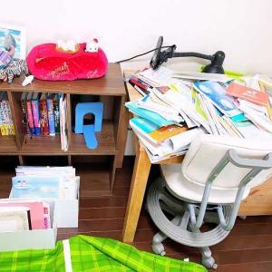 【サポート実例】受験に向けて!プリントが散乱した机の上が整いました
