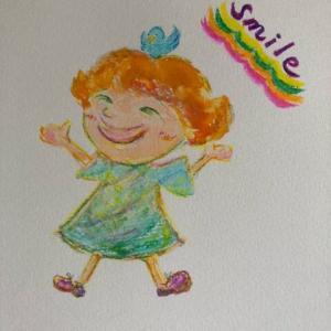 心を和ませる天使の絵★送って頂きました。可愛い子供の絵です