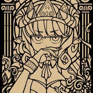 悪魔っ娘ステグラ線画
