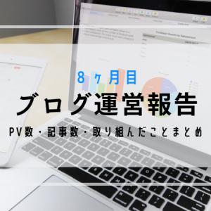 【はてなブログ運営報告】8ヶ月目のPV・記事数・取り組んだことまとめ