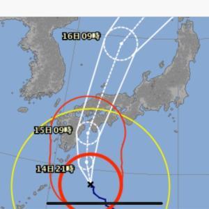 台風がやって来る。